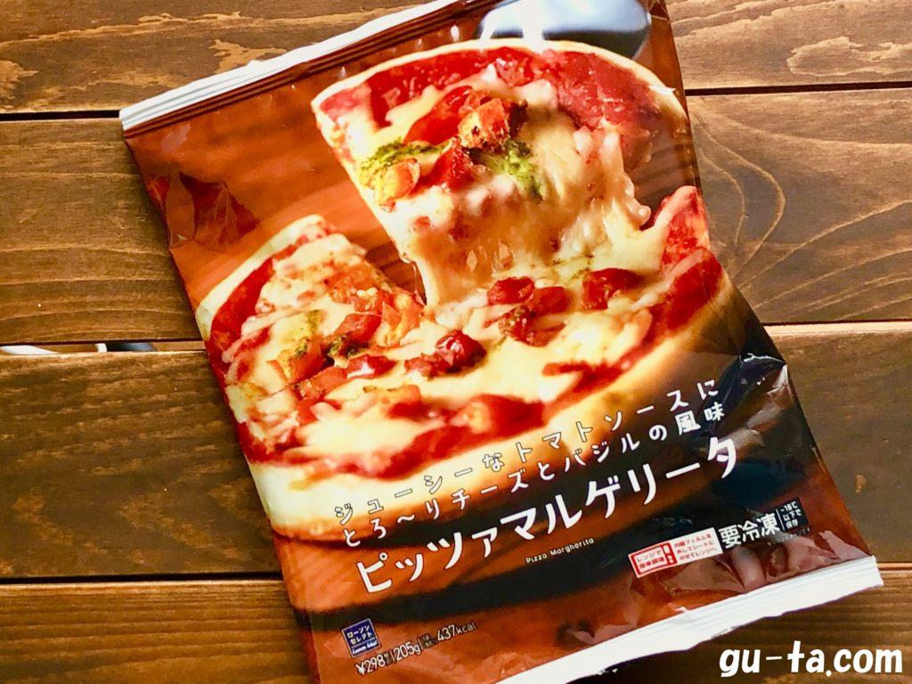 ローソンの冷凍ピザ『ピッツァマルゲリータ』のパッケージ